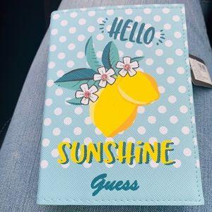 Guess Blue Polkadot Sunshine Passport Holder